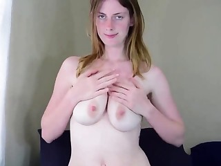 Toying my wet unshaved pussy