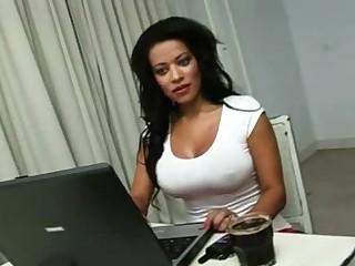 Busty latina gets her clothes ripped for fast access to asshole