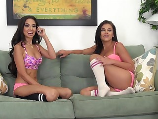 Trinity St Clair with Adriana Chechik