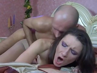 Jean A and Clem A mindblowing anal pantyhose action