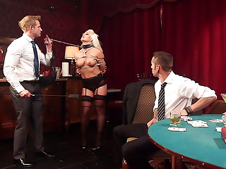 All In Holly Heart gets TRIPLE PENETRATED by HUGE fat cocks!