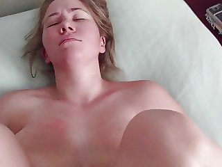 Big natural tits MILF teased & fucked