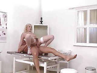 Nurse Daria Glover with a Hairy Pussy Ass Fucked by Patient
