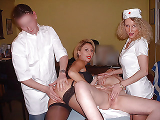 3 nurses on the young doctor