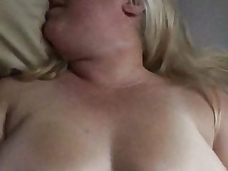 BBW Wife getting fucked with flopping pierced tits