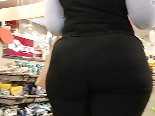 Phat black asses in public