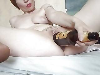 Olha (Olga) Maruschak Kiev trains cunt with a bottle of beer