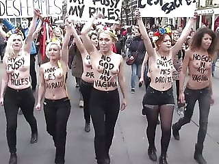 FEMEN topless protests in France
