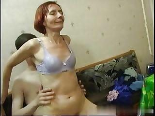 skinny russian mature sagy tits 9