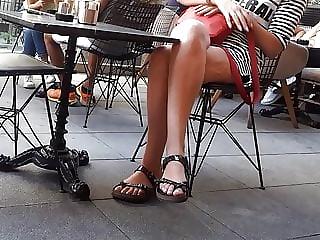 crossed long legs, sexy big feets in birkens