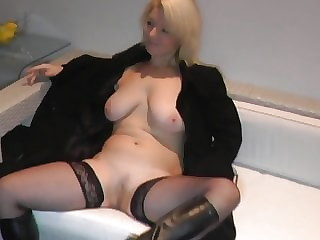Milf creampied in stockings