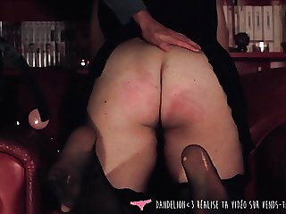 Ass Spank - French Girl Spanked by BF on Vends-ta-culotte